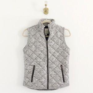 thread & supply gray cotton vest